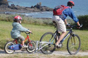 Aprender a andar en bicicleta con remolque