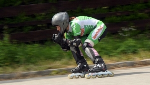 Downhill inline skating