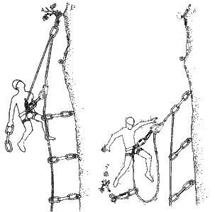 Escalar descuelgue precario