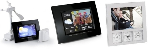 Estaciones meteorológicas con marco digital