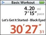 Nike+iPod screen