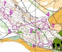 Orienteering mapa