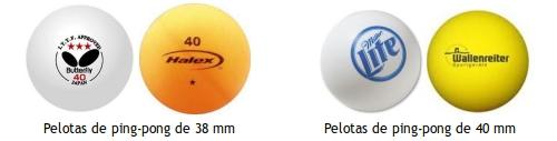 Pelotas de ping-pong