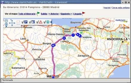 Planificador de rutas Michelin