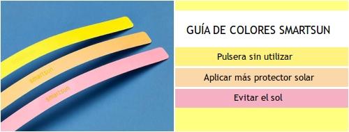Pulsera con indicador UV SmartSun de Bluemarionge Health