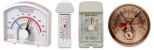 Termómetros de máximas y mínimas