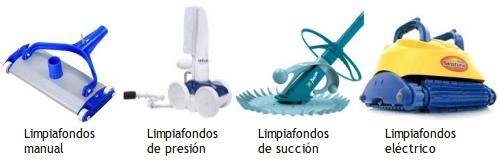 Tipos de limpiafondos