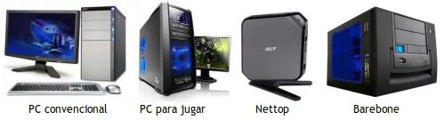 Tipos de ordenadores de sobremesa