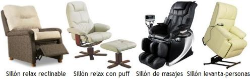 Tipos de sillones relax gu as pr cticas com for Tipos de sillones